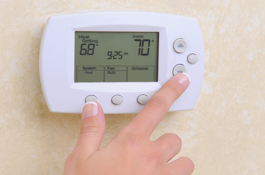 thermostat check during heating system tune-up